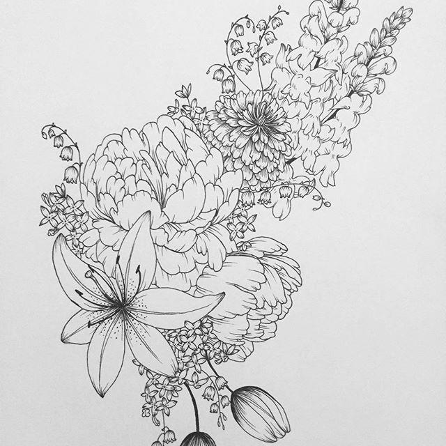 Eucalyptus Bouquet Drawing
