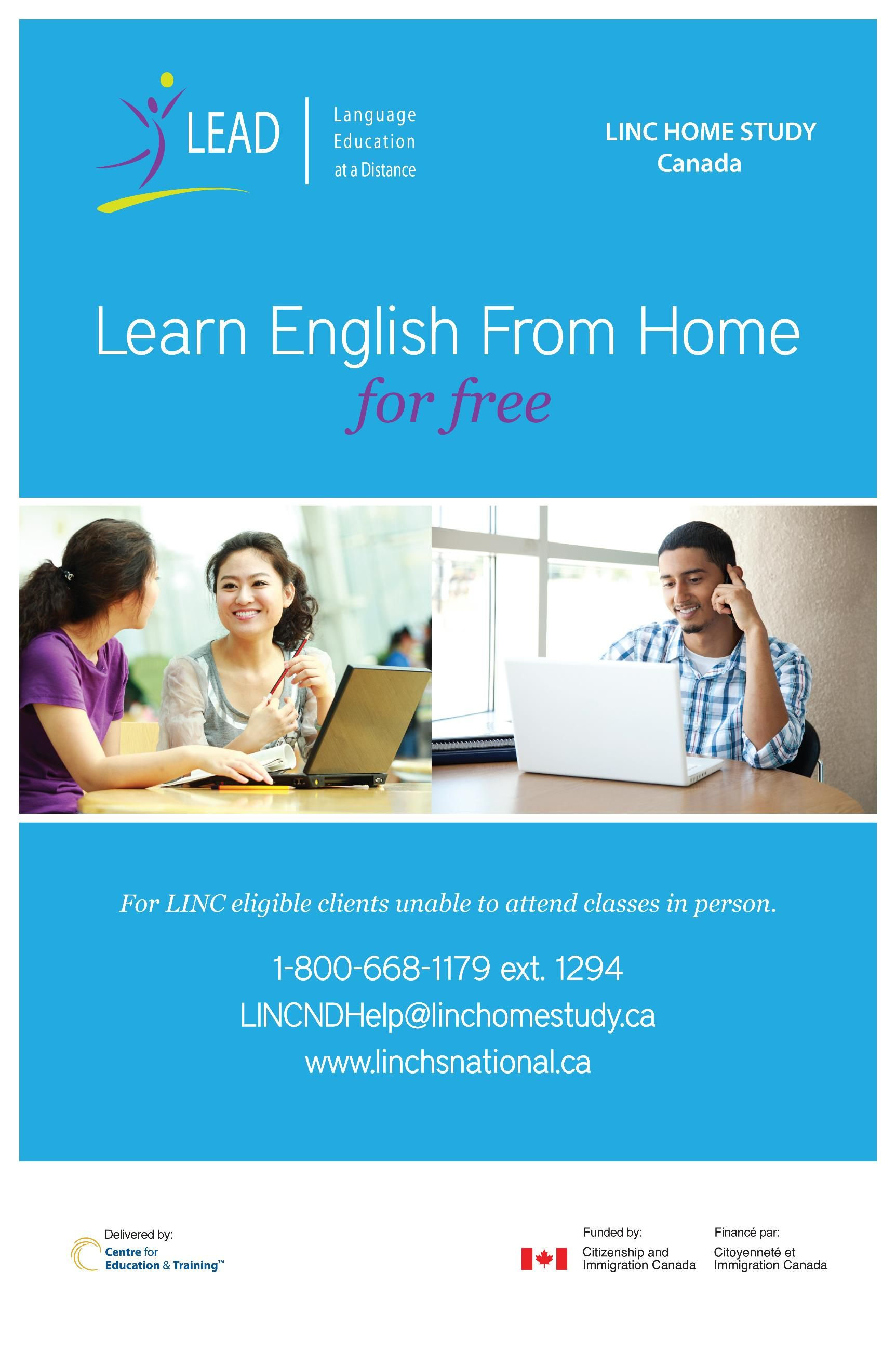 New language training program in Manitoba - LINC Home Study