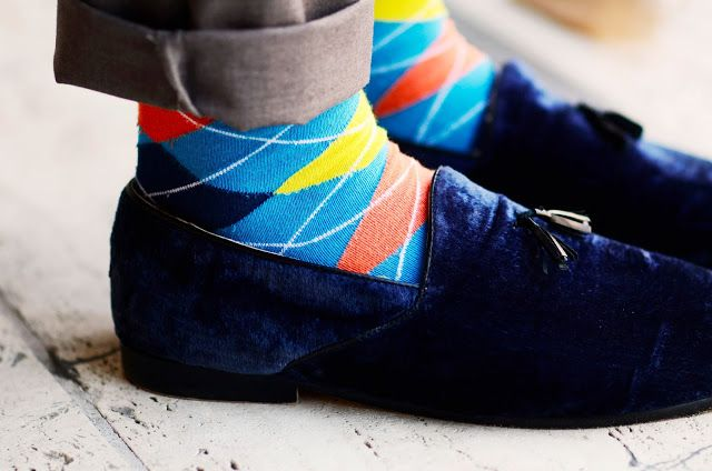 Socks men, colorful