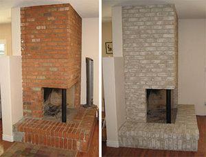 Properly Paint A Brick Fireplace Red Brick Fireplaces Brick Fireplace Painted Brick Fireplaces