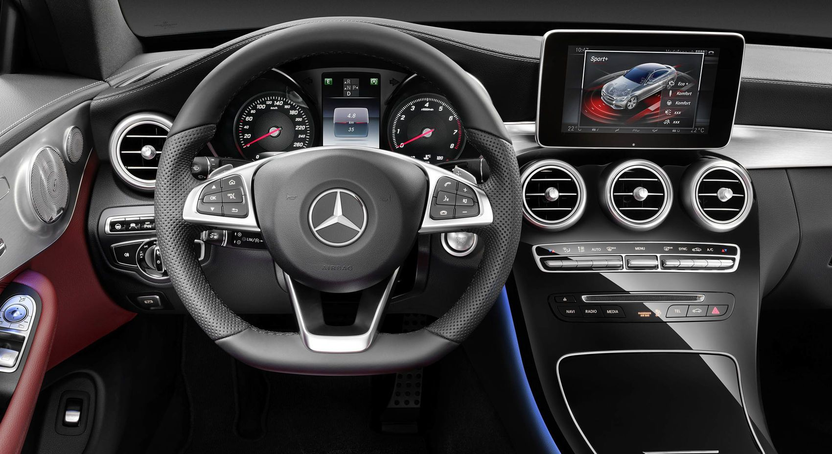 2017 Mercedes Benz C Class Coupe C300 Interior Cockpit Images