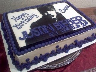 Justin Cake Justin Bieber Cake Justin Bieber Birthday My