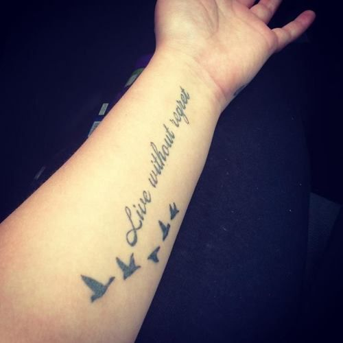 Love it tattoo quotes | Tumblr | Tattoos | Tattoos, Tattoo ...