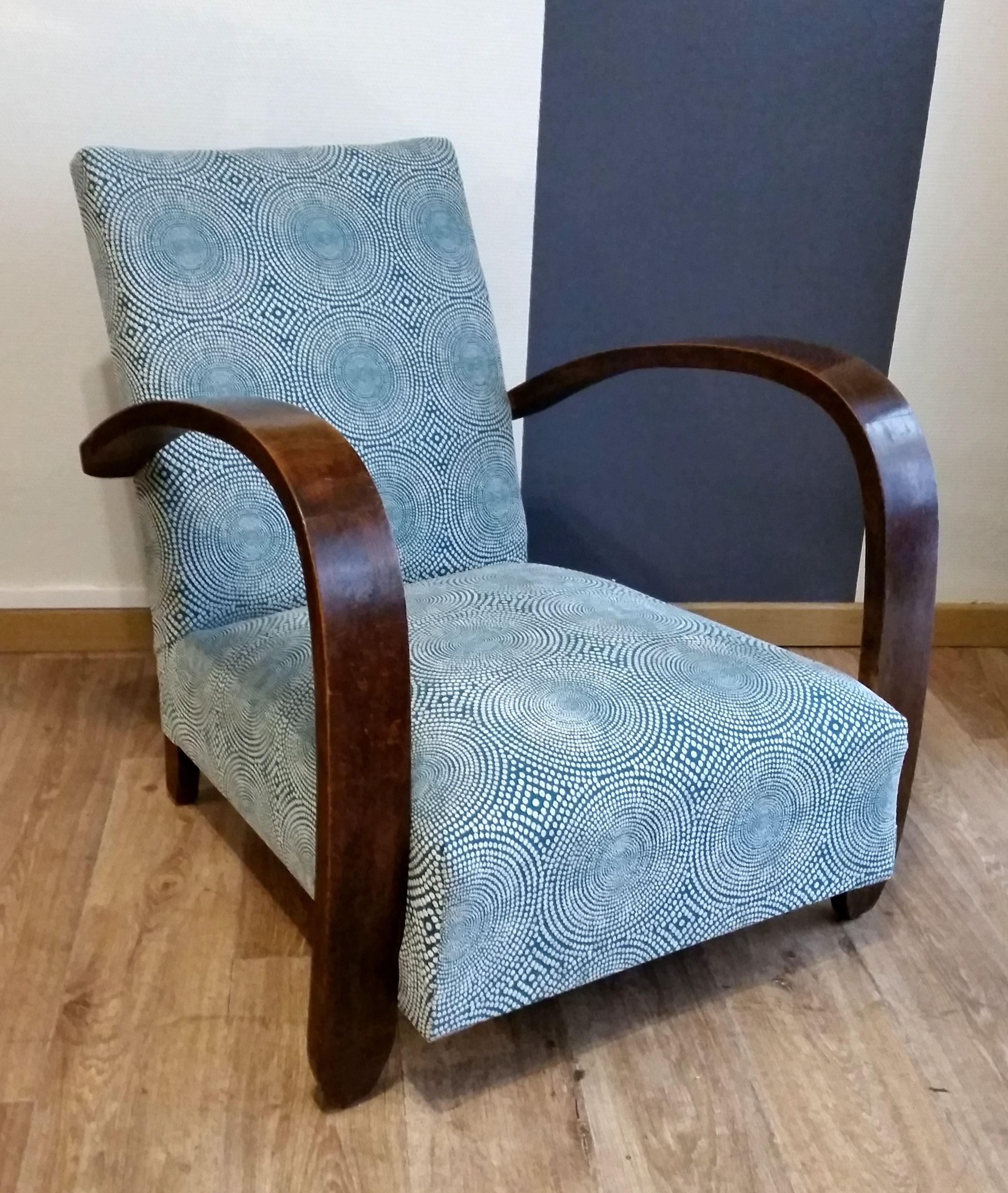 fauteuil art d co tissu scion tapisserie en 2019 fauteuil art deco mobilier art d co et. Black Bedroom Furniture Sets. Home Design Ideas