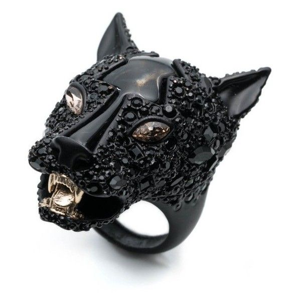 Alexis Bittar Crystal Encrusted Panther Ring found on ...