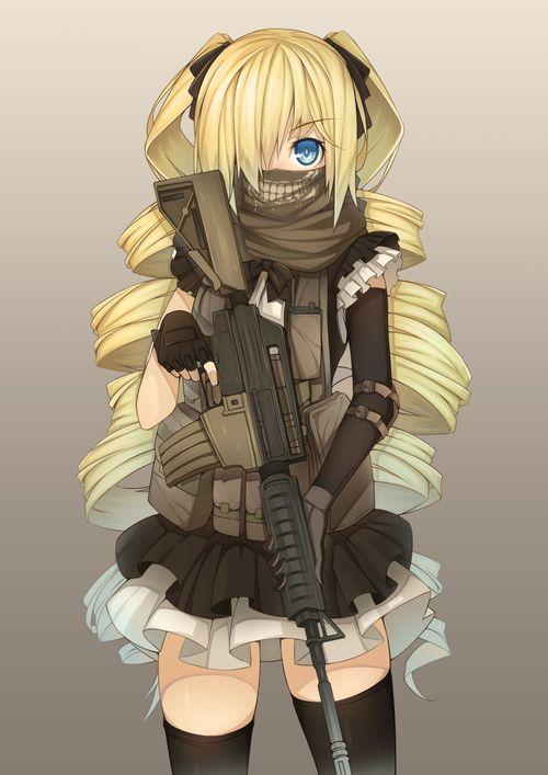 Girl Mask Scarf Gun