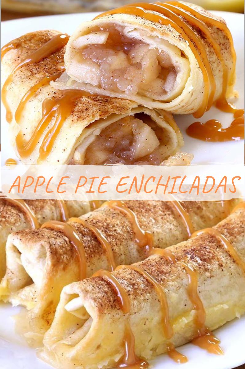 Apple Pie Enchiladas - HOME RECIPES #applerecipes