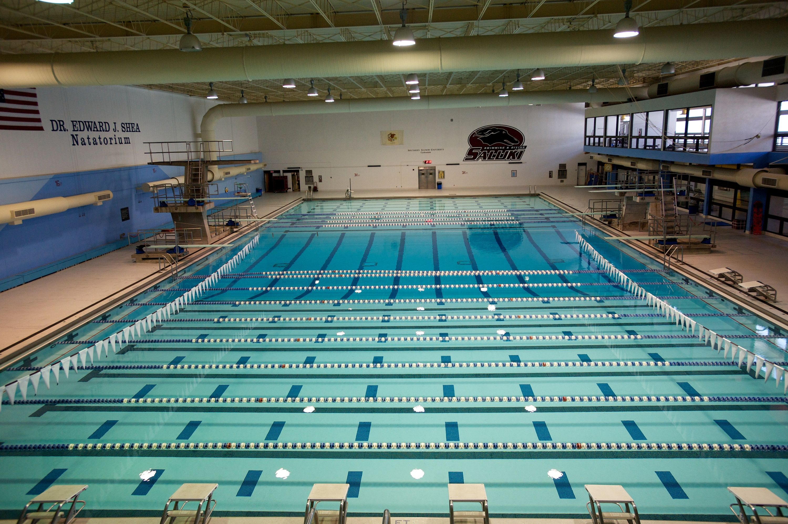 Student Recreation Center Pool the home of the Saluki Swimming and