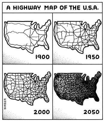 Image Result For Us Road Map Before Interstates General US - Map of interstate highway system in us