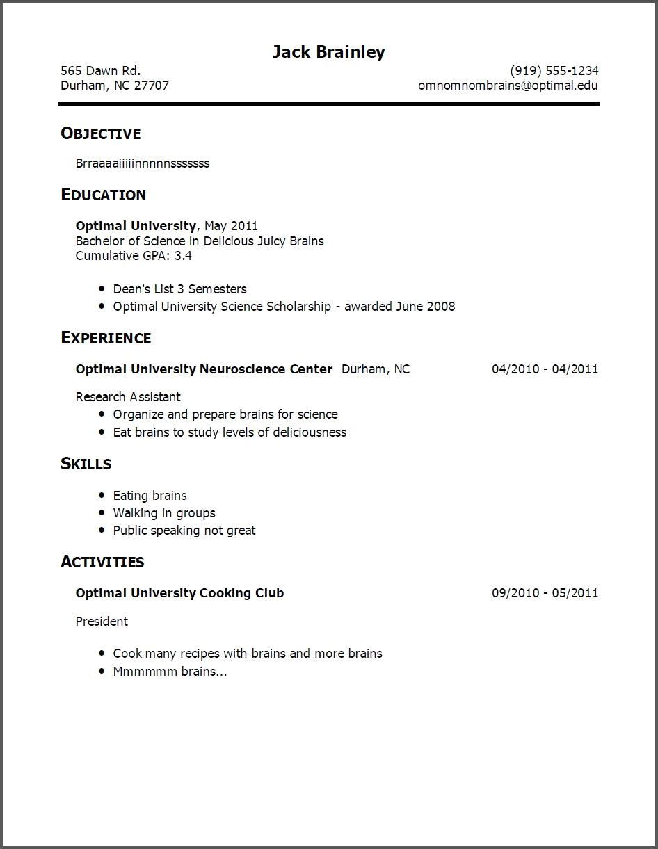 Pin On Resume Examples Simple