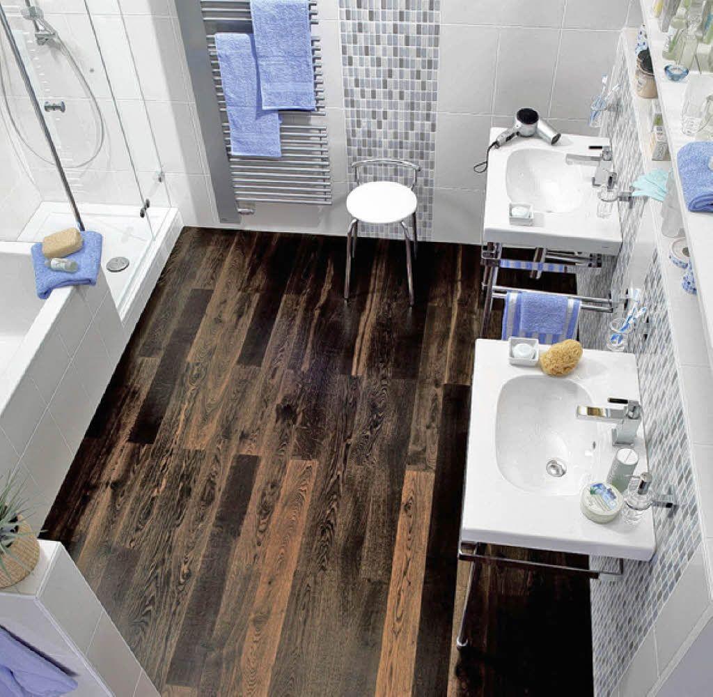 Holzboden im Bad  Badezimmer dekor, Holzboden im bad, Holzboden