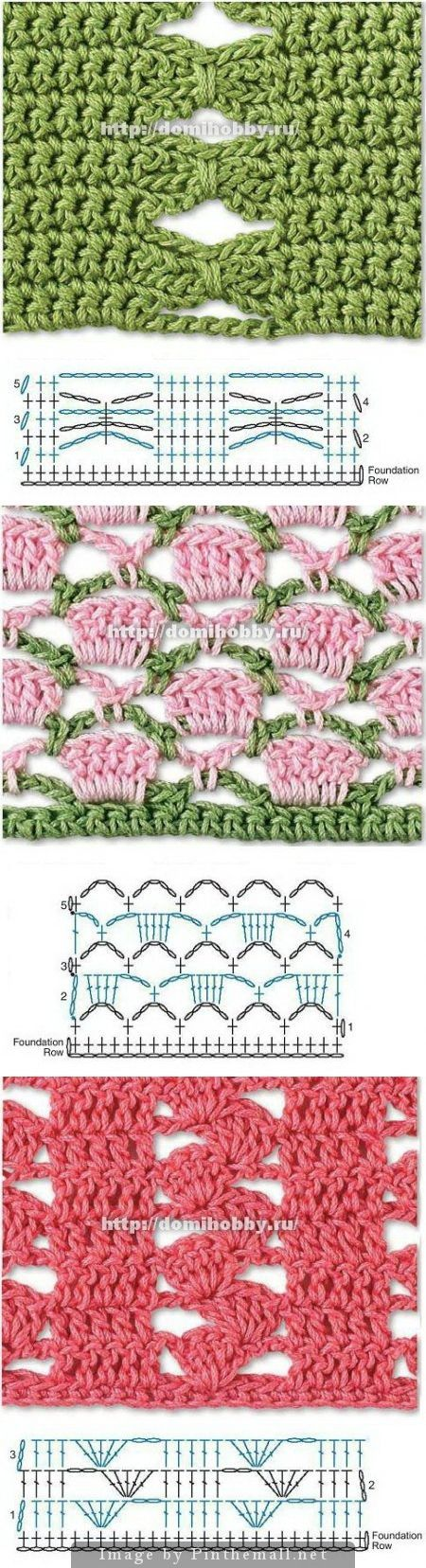 Beautiful Crochet Stitches - many more on this site - all with ...