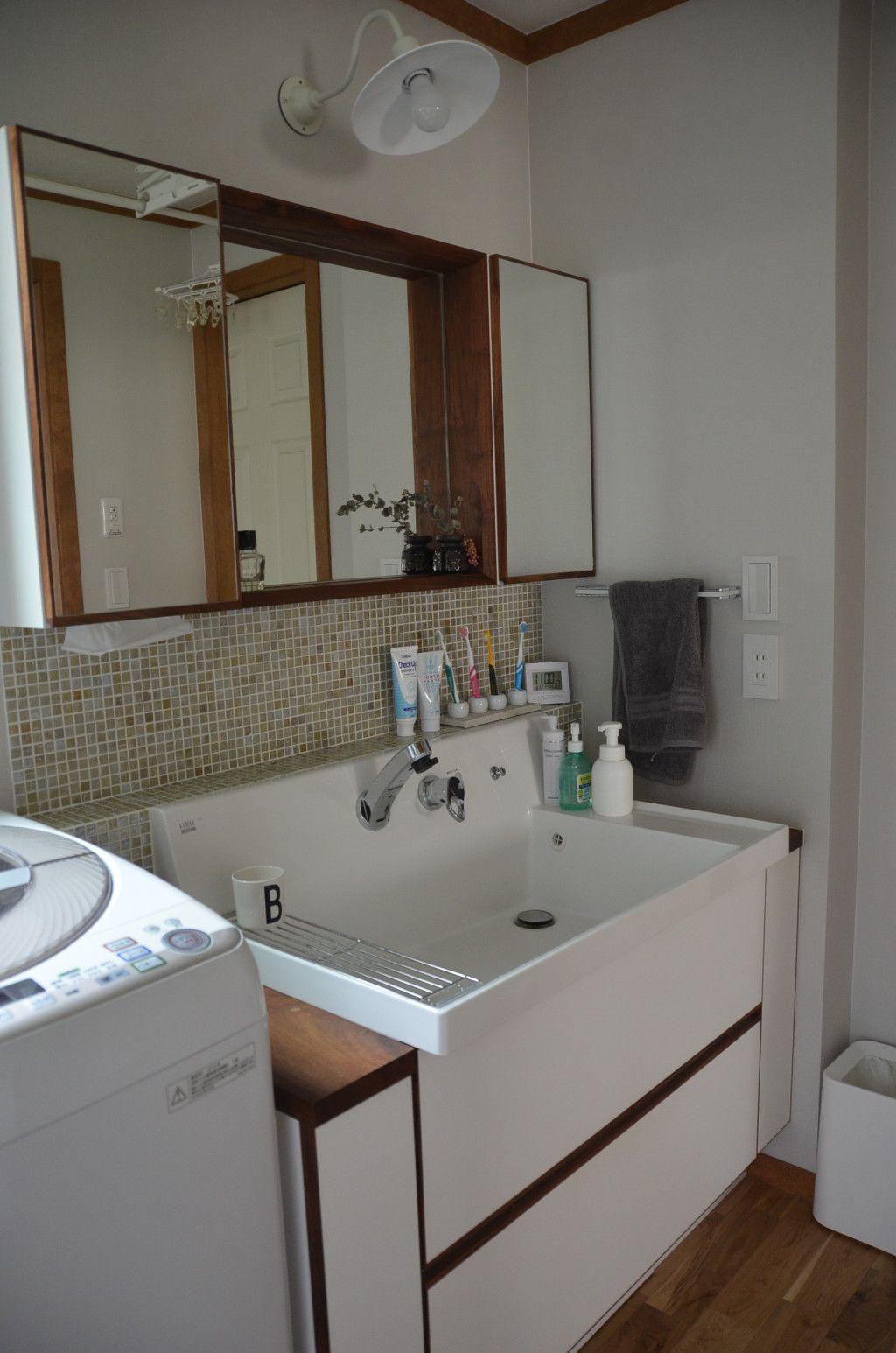 リクシルのピアラで造作洗面台を考えた Web内覧会 その後2年半経ちました 画像あり ピアラ 造作 洗面台 洗面台