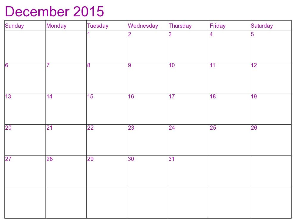 2015 Calendars December 2015 Calendars 2016 Calendars