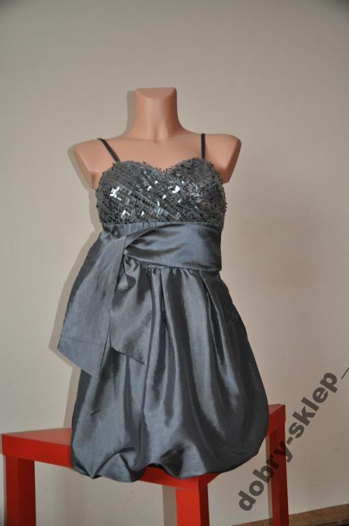 Sukienka Bombka Cekiny Srebrna Mini 3050201267 Oficjalne Archiwum Allegro Dresses Cocktail Dress Sleeveless Formal Dress