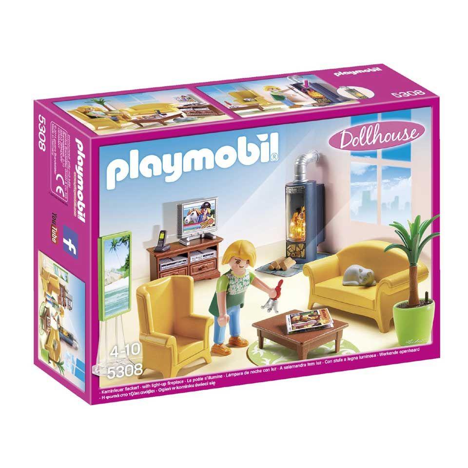 Playmobil Dollhouse woonkamer met houtkachel 5308 | kids | Pinterest ...