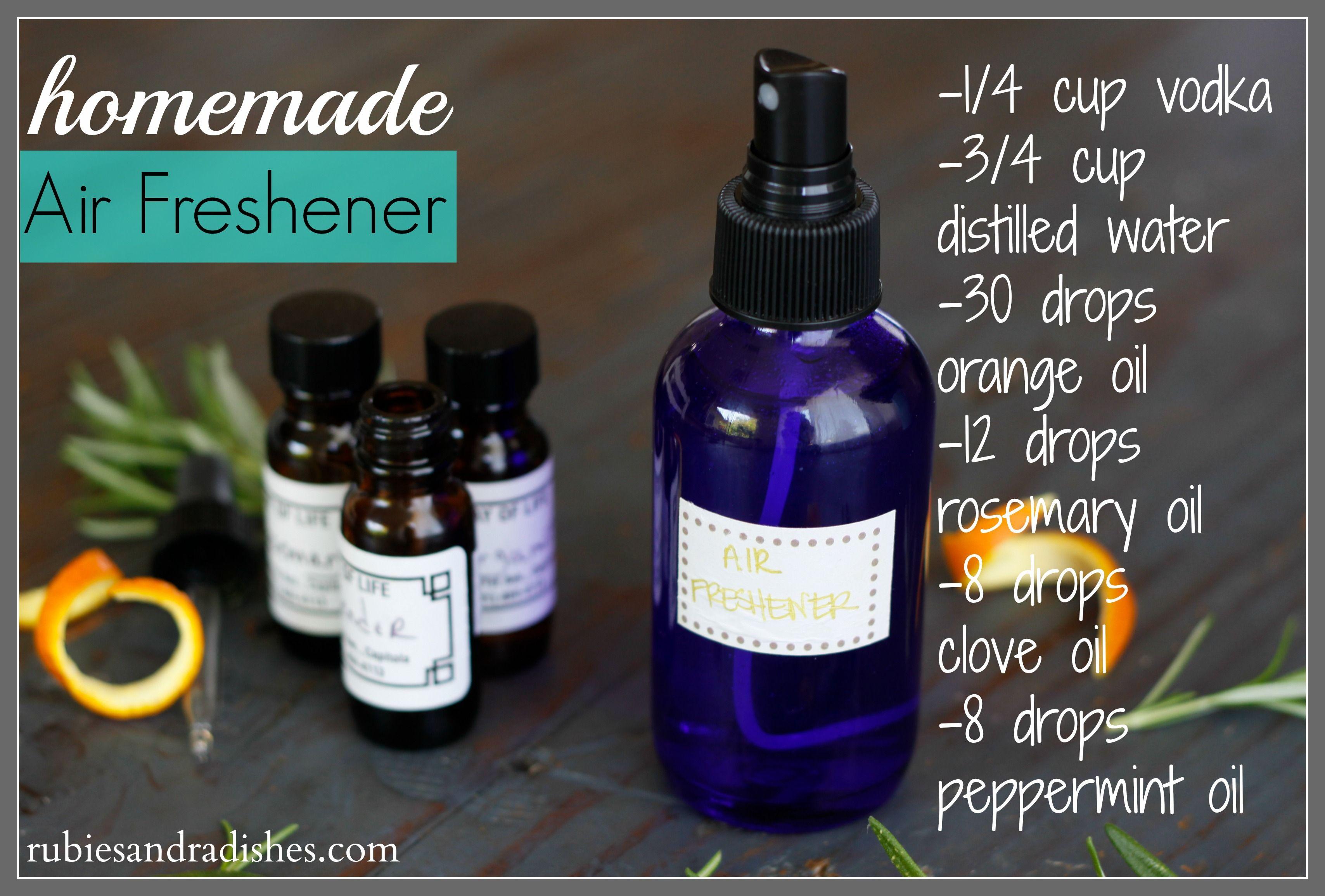 Homemade AirFreshener 30 drops orange oil (find it here