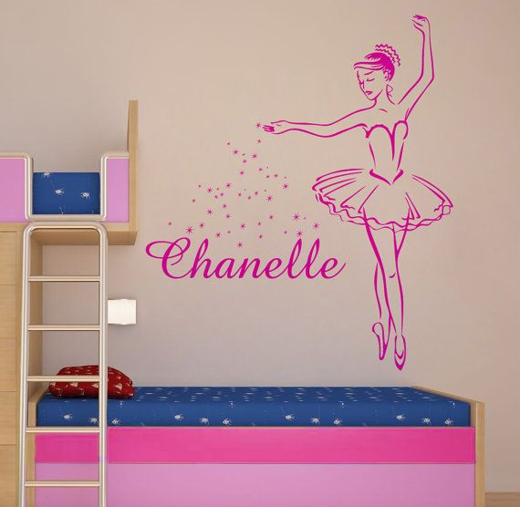 Personalized Ballerina Large Vinyl Wall Art Sticker Decal