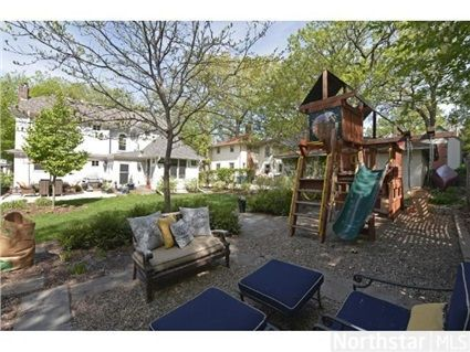 Play area and outdoor living room --- 4945 Emerson Avenue S, Minneapolis, MN 55419