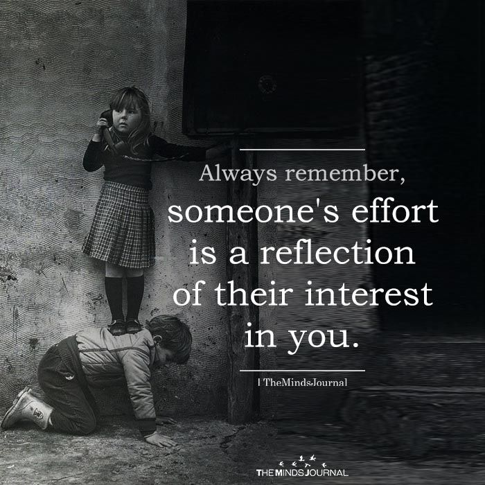 Always Remember, Someone's Effort Is A Reflection