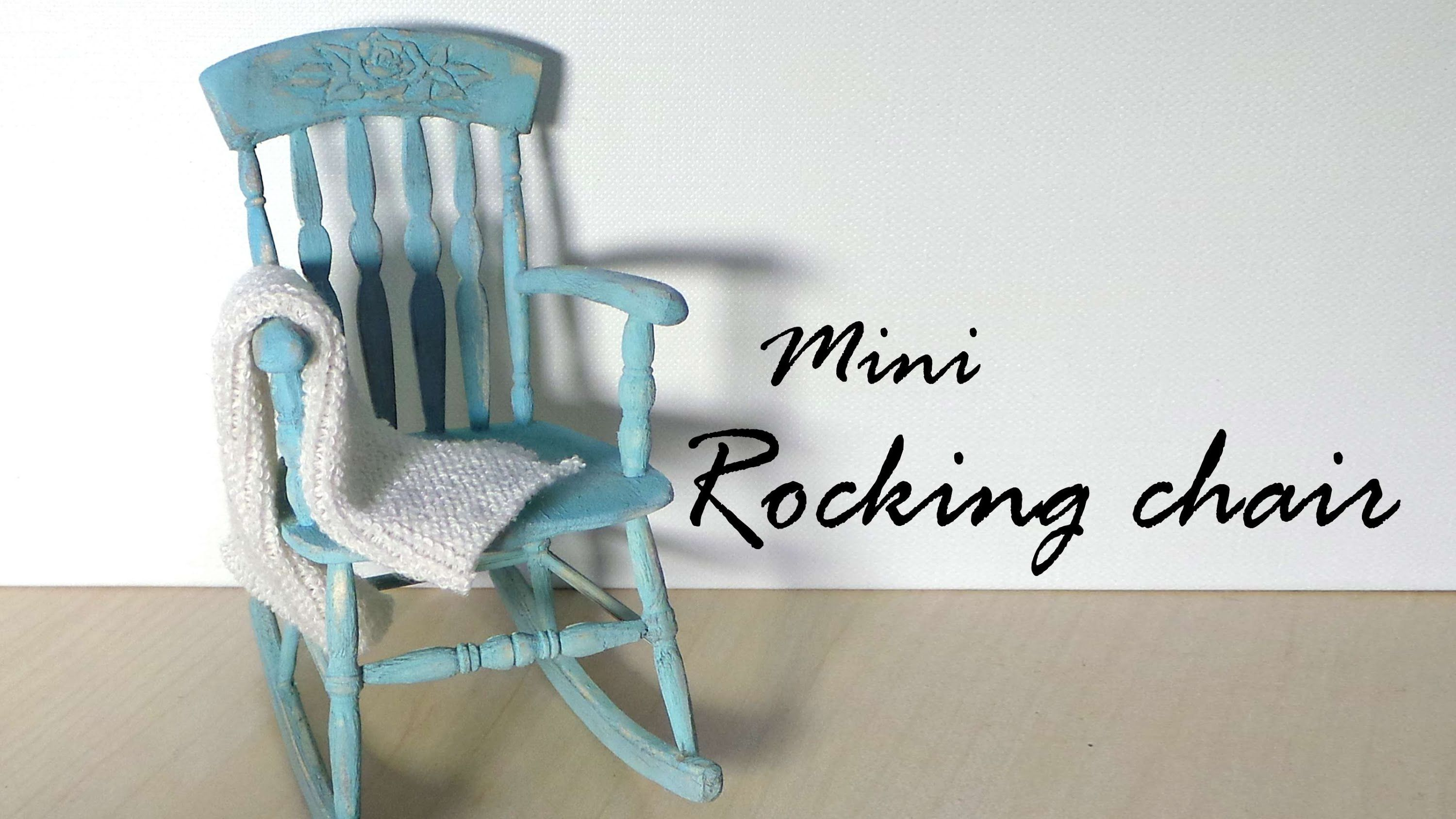 Miniature Furniture; Rocking Chair Tutorial - Dolls/Dollhouse #miniaturefurniture