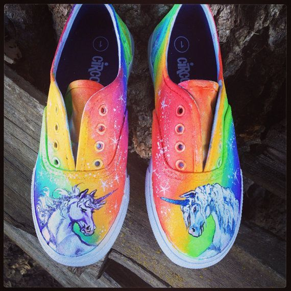 8103c5b35421 Image result for unicorn painted shoes