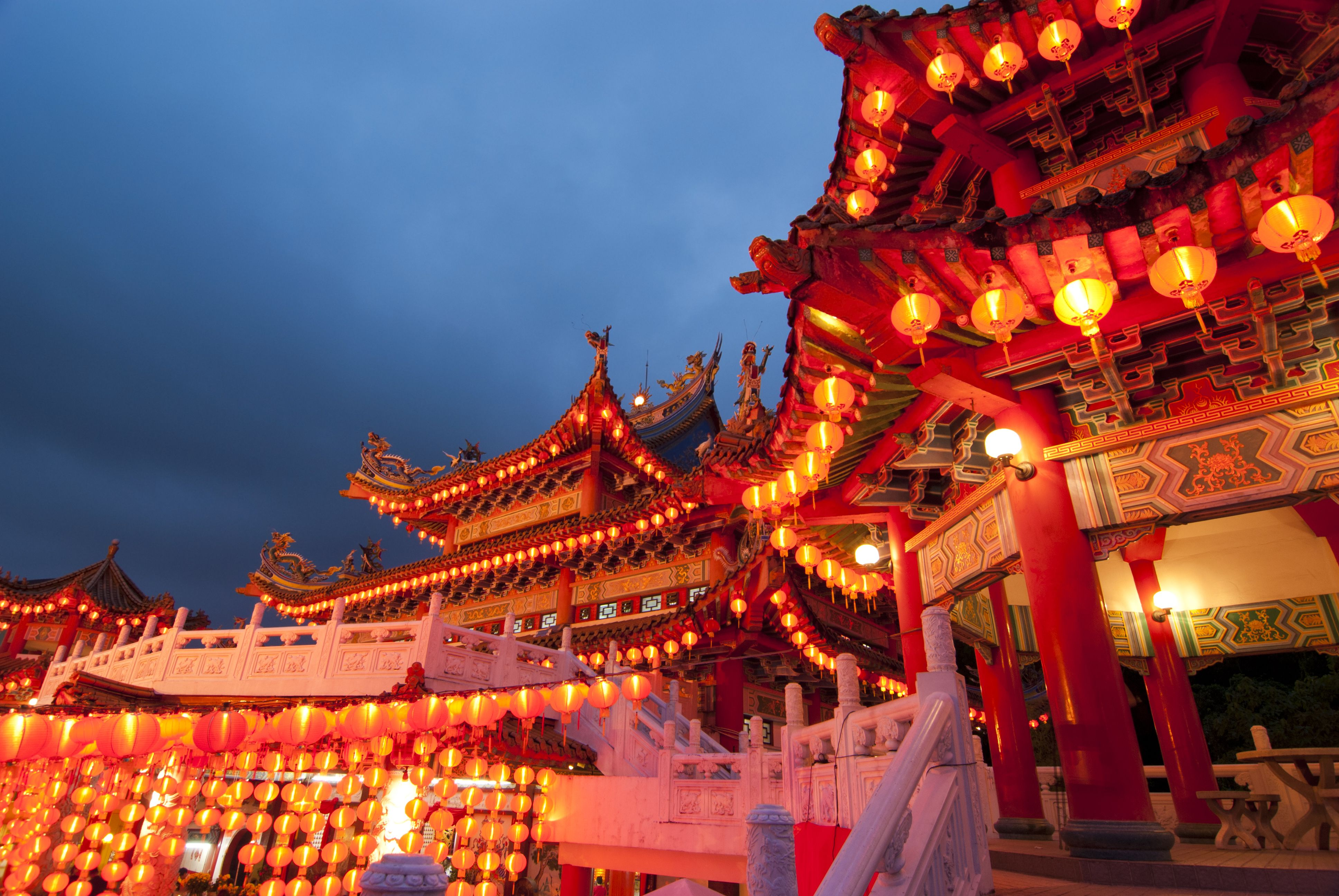 Chinese New Year At Thean Hou Temple In Kuala Lumpur Malaysia C Wong Yu Liang Dreamstime Fondos De Pantalla Fondos