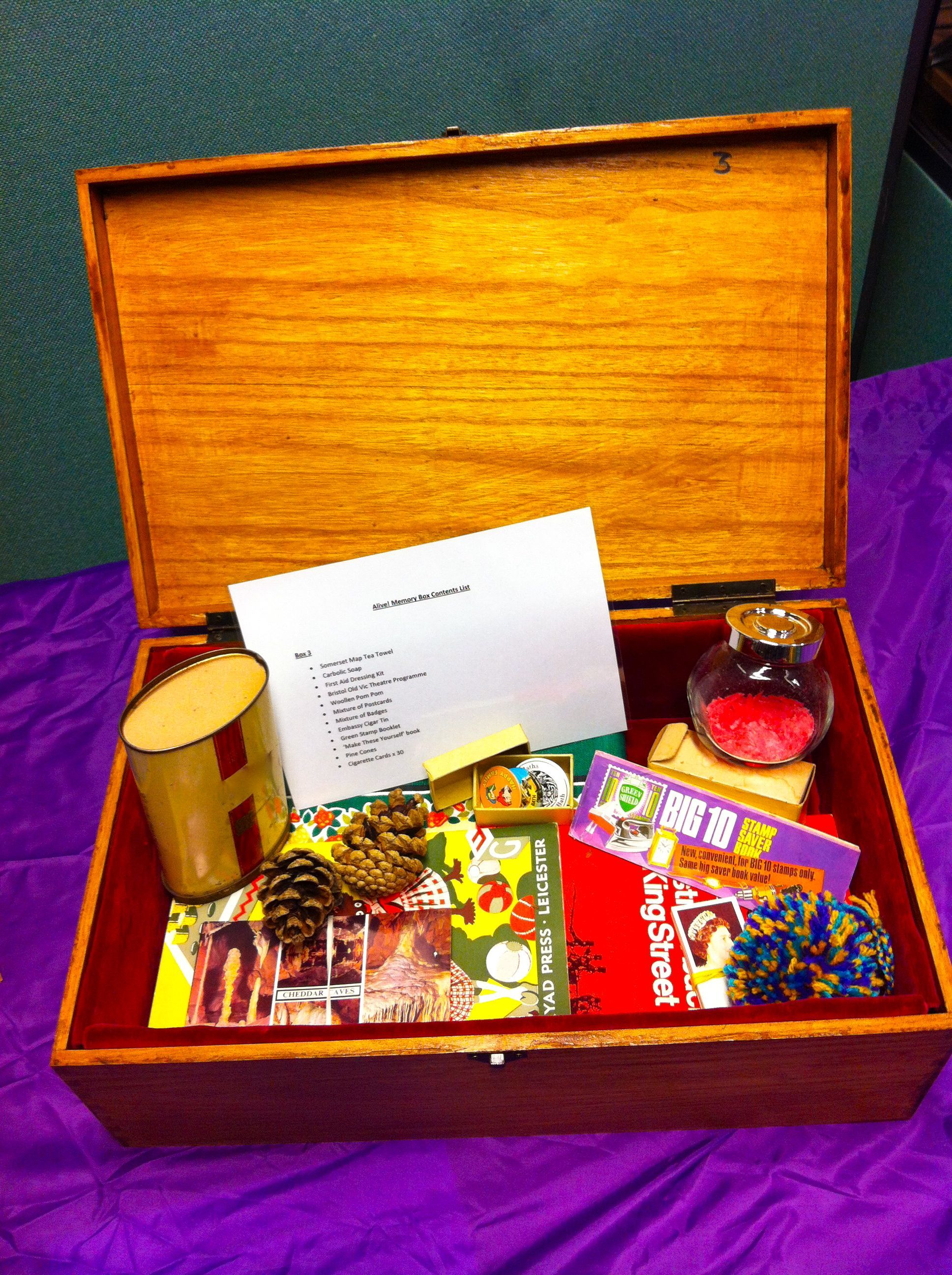 Fantastic finished memory box all ready to go to a care