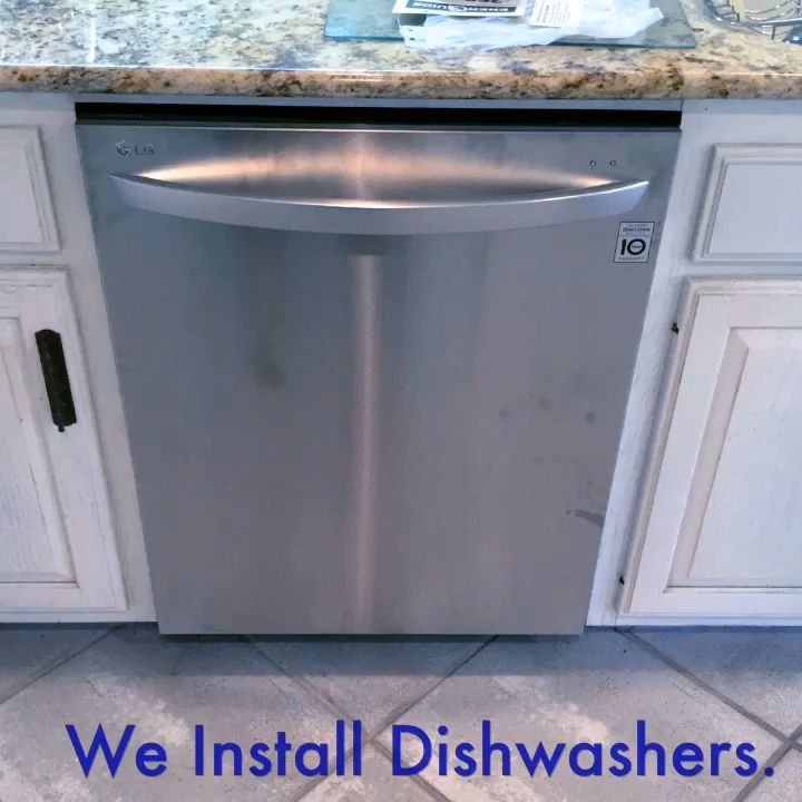 We Install Dishwashers If You Need A Dishwasher Installed This Holiday Season Give Us A Call Appliance Installation Installation Trash Can