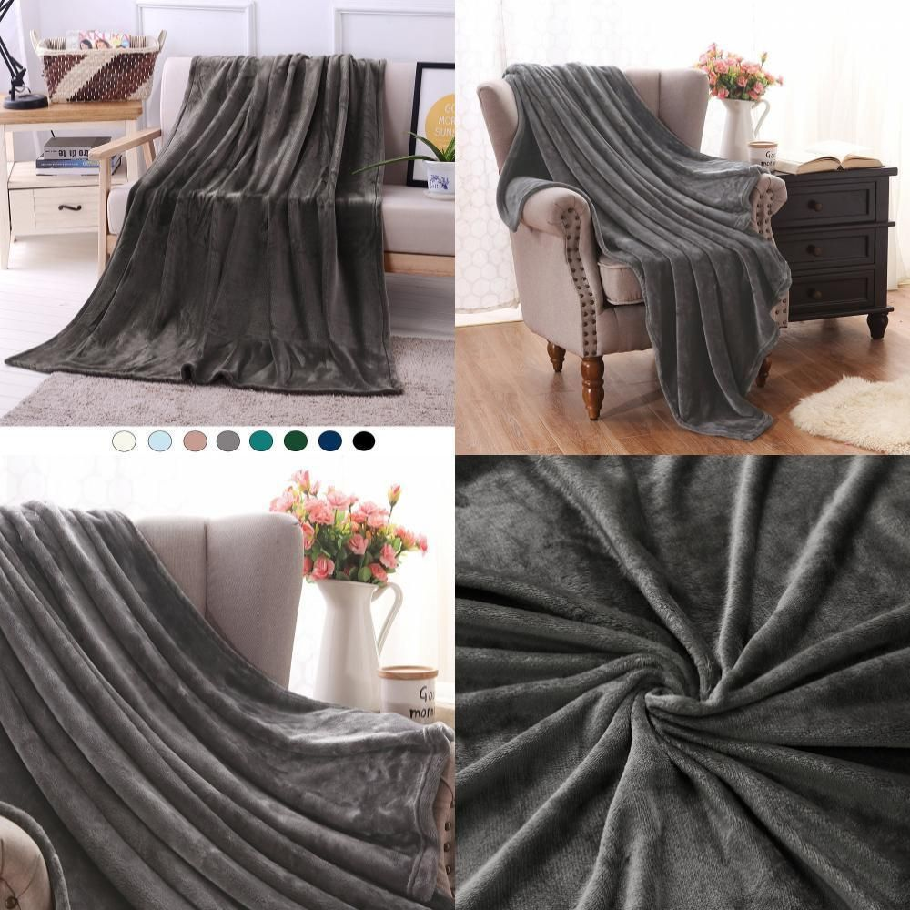 "Throw Blankets For Couches Extraordinary Luxury Flannel Velvet Plush Throw Blanket Couch Blankets 50"" X 70 Decorating Inspiration"