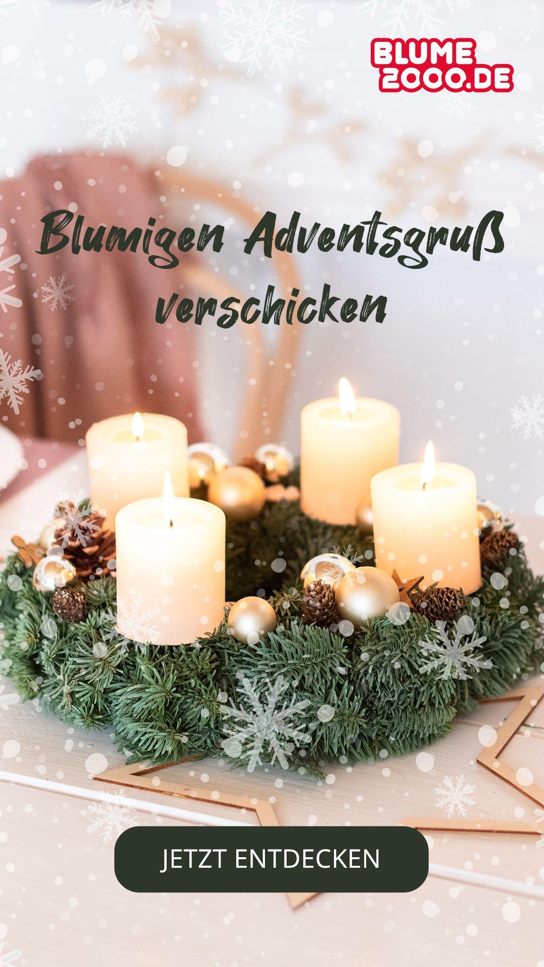 Blumige Adventspost