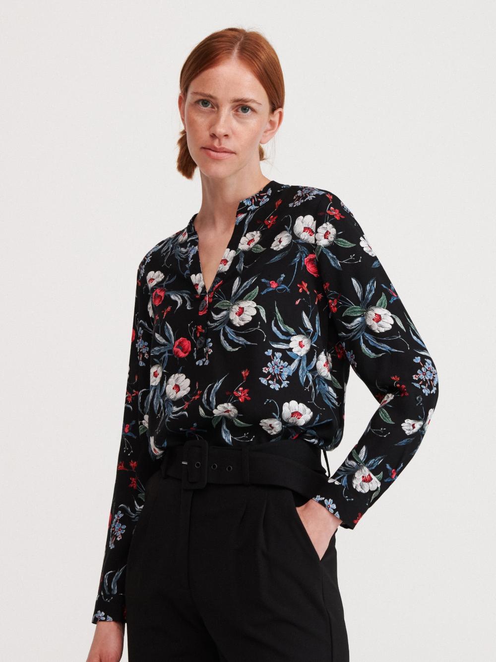 Kupuj Online Bluzka W Kwiaty Reserved Yb090 99x Floral Print Blouses Blouse Fashion