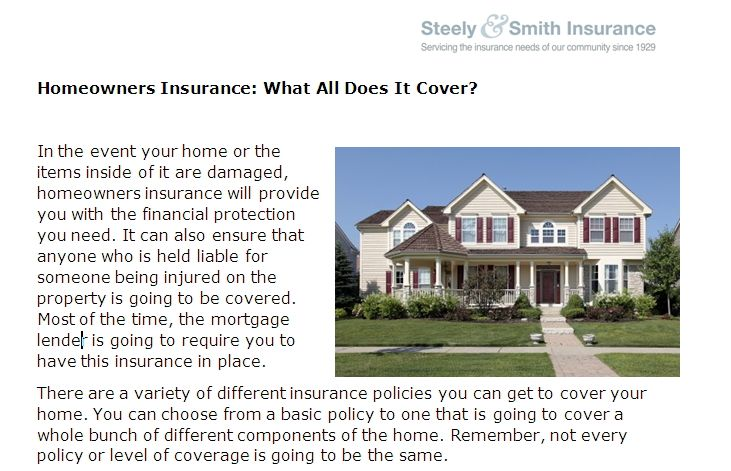 Homeowners Insurance What All Does It Cover House Styles