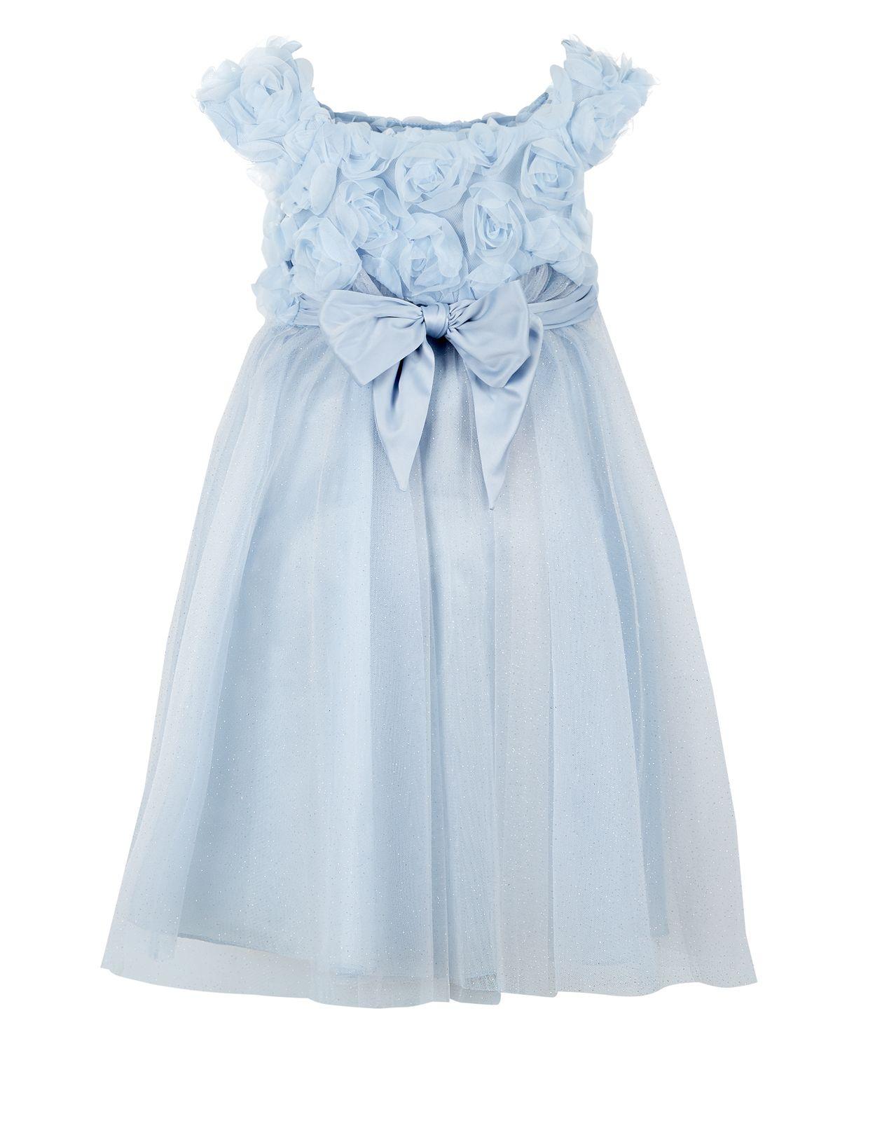 Estella Roses Dress   Blue   Monsoon