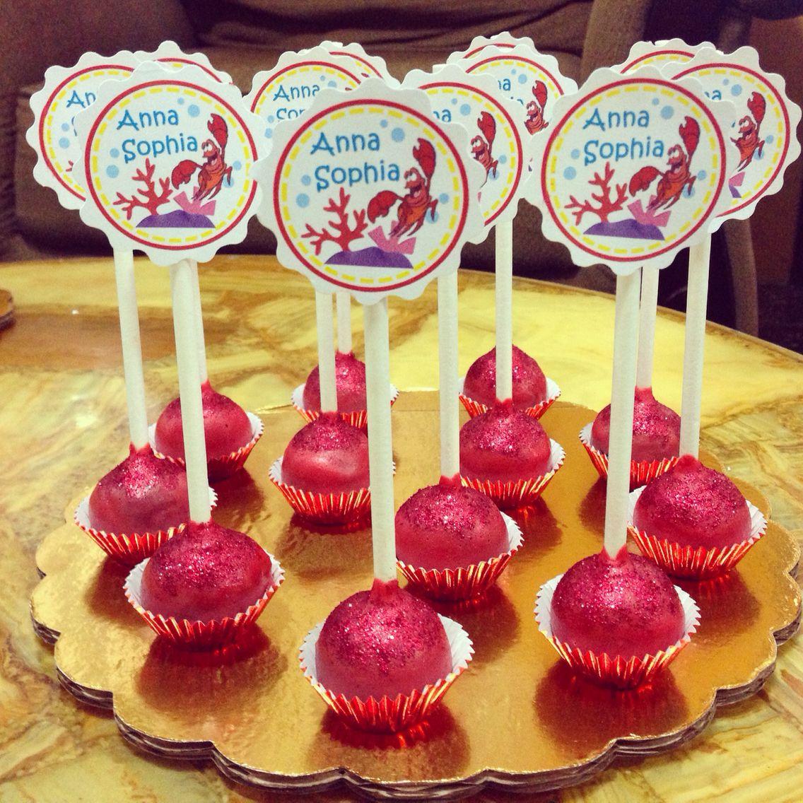 Little mermaid cake pops mermaid cake pops little