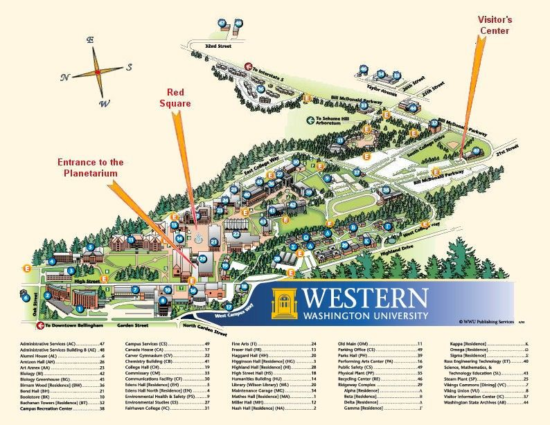 WWU map - wayfinding system i used when I started classes at Western ...