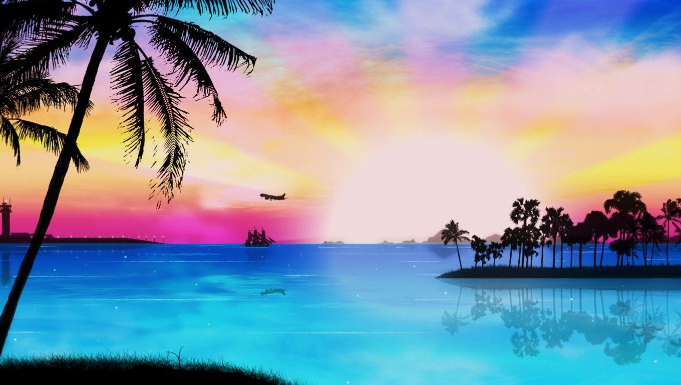 tropical paradise wallpaper - photo #33