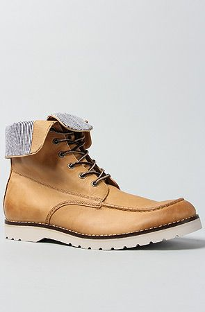 821dfa23f8a Wolverine No. 1883 The Mayall 8 MocToe Wedge Boot in Sun : Karmaloop ...