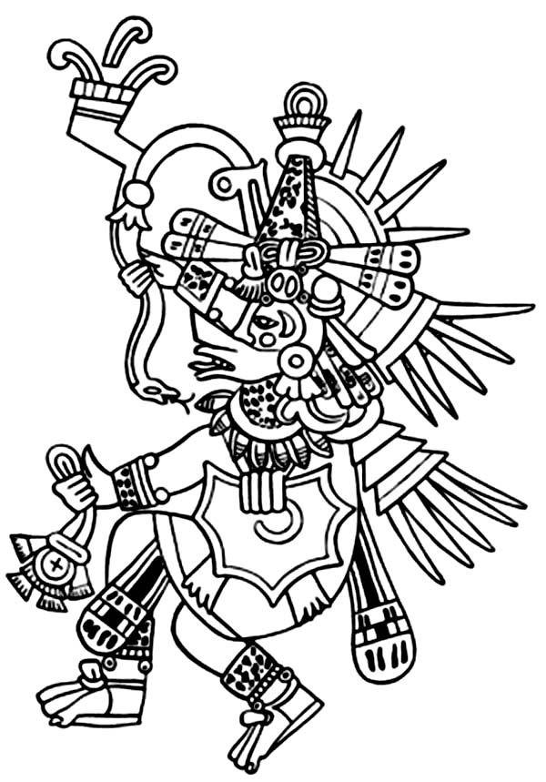 Aztec Tlaloc Coloring Pages Aztec Art Aztec Empire Aztec Symbols