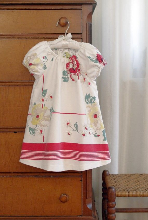 Vintage Tablecloth Dress Now We Can Make Dresses Out Of