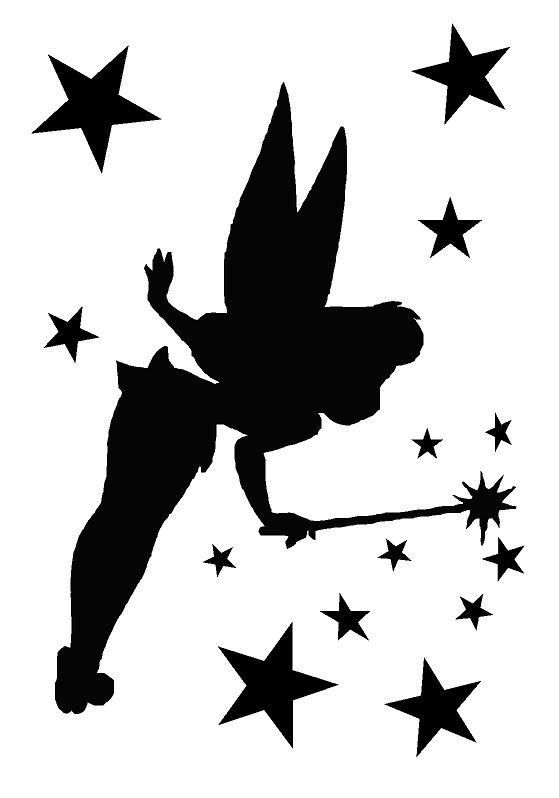 Tinkerbell stencil google search silhouettes