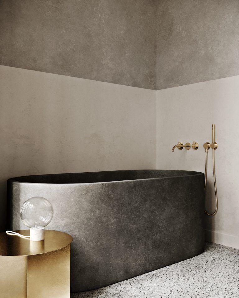 Ein Mineralisches Badezimmer Modernes Badezimmerdesign