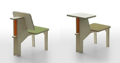 Double Sided Chair   A Desk And Back Rest By French Designer Matali Crasset