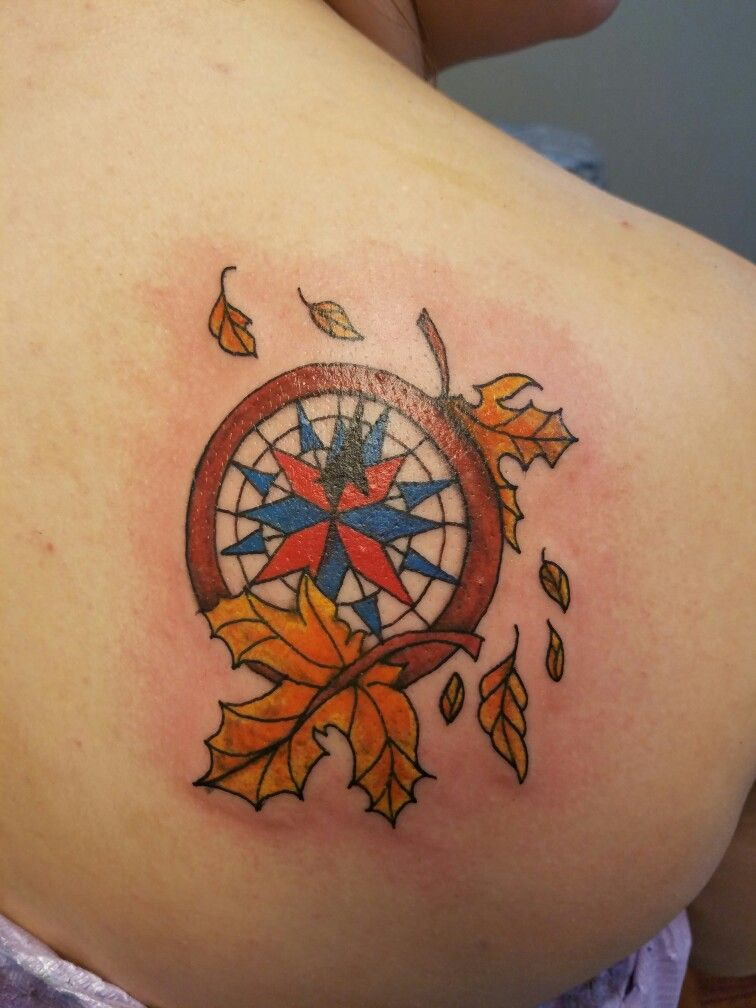 my tattoo compass from the disney movie pocahontas