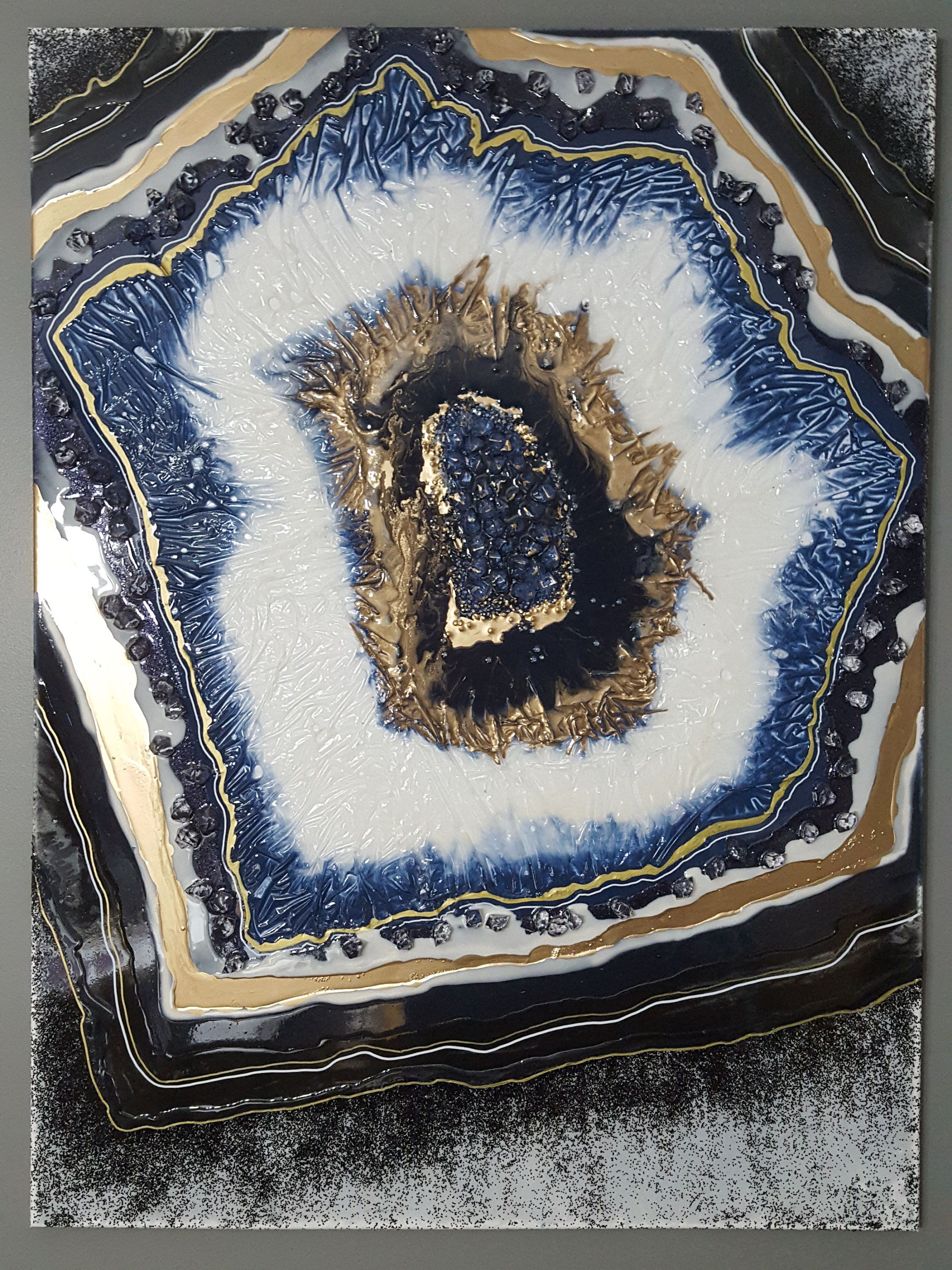 Geode Tile Acrylic Pour Mrw Art - Year of Clean Water