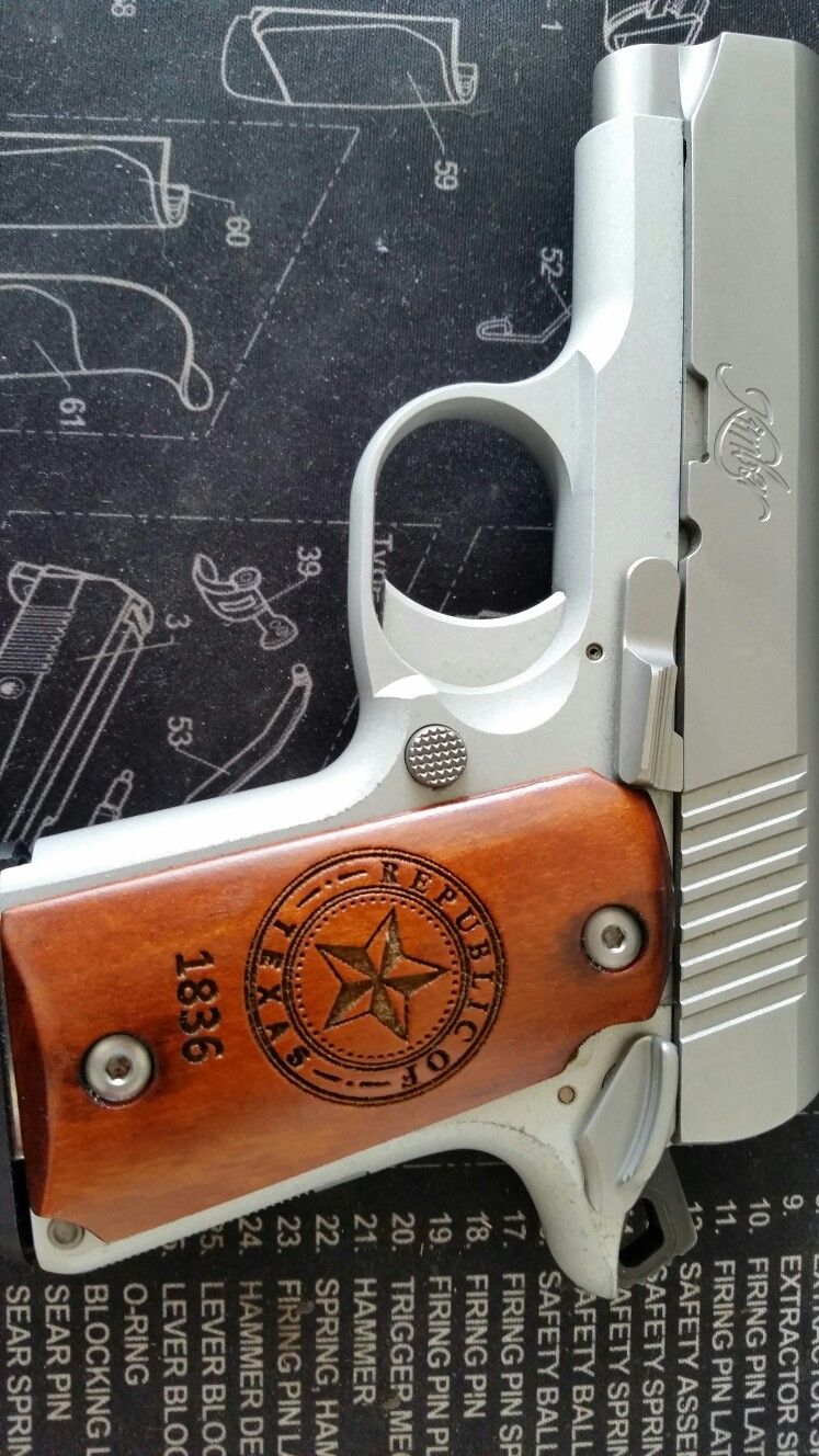 Kimber Micro 9 Republic of Texas grips by Morningwood Custom