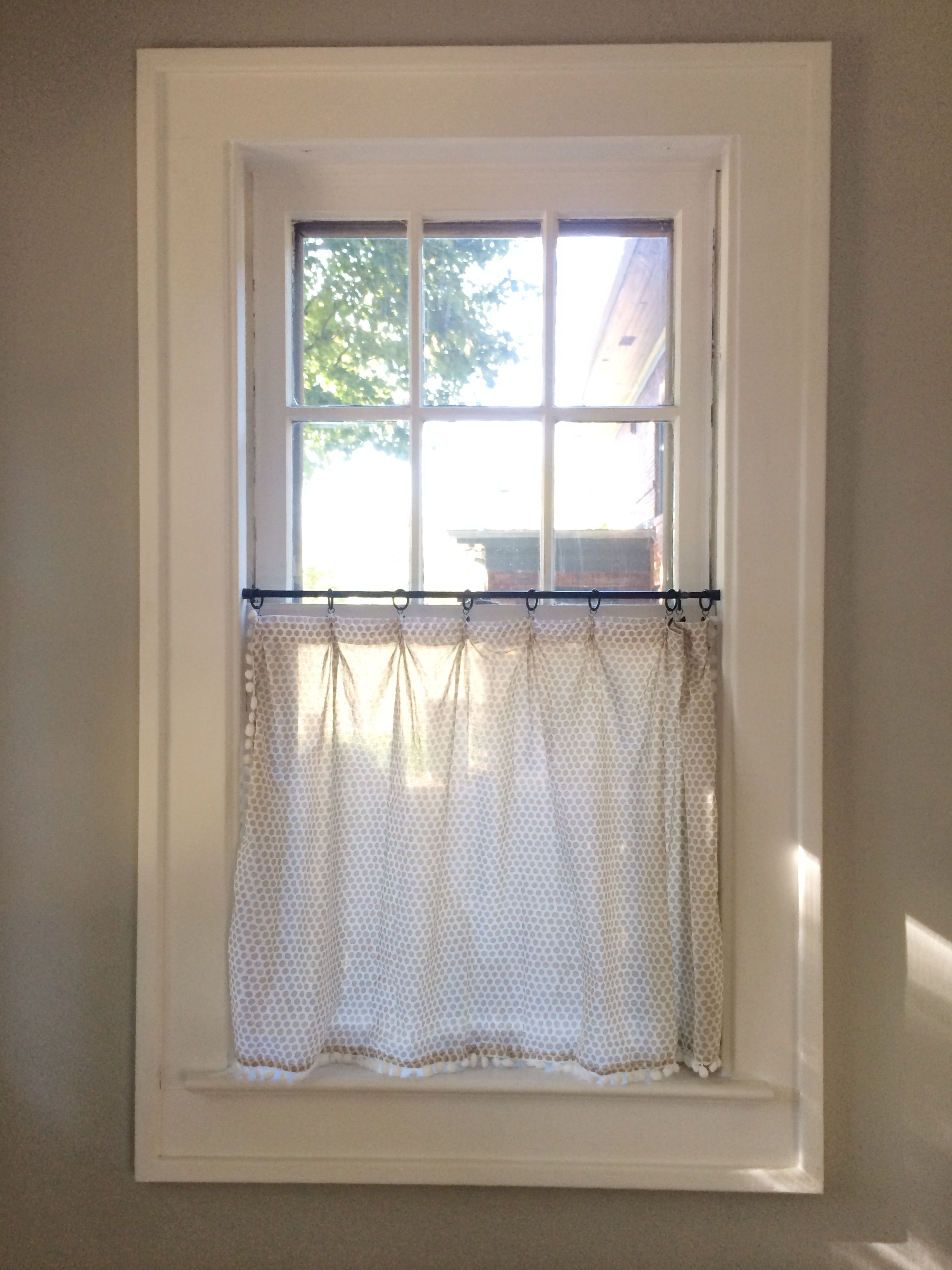 Our Home The Kitchen Diy Cafe Curtains Bathroom Window
