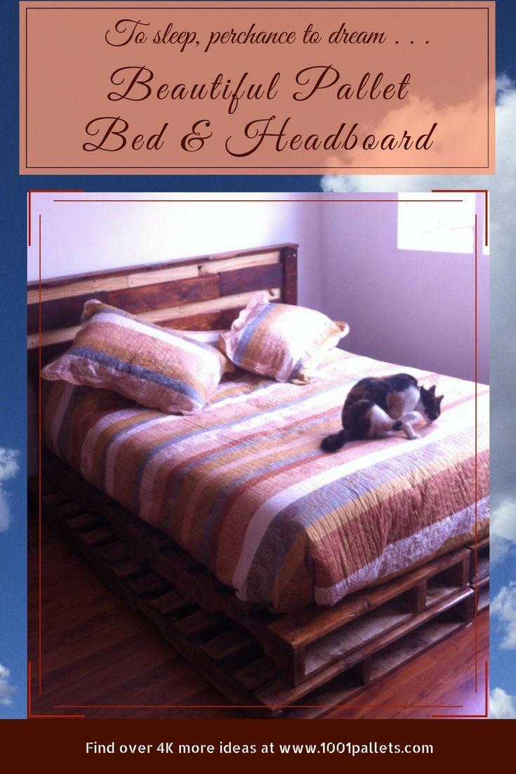 Pedestal Perfect Pallet Wood Bed/Headboard | Diy pallet ...