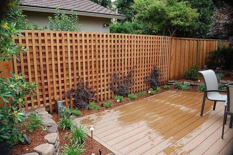 Recinzione giardino e un 39 idea decorativa con il legno for Recinzione legno giardino