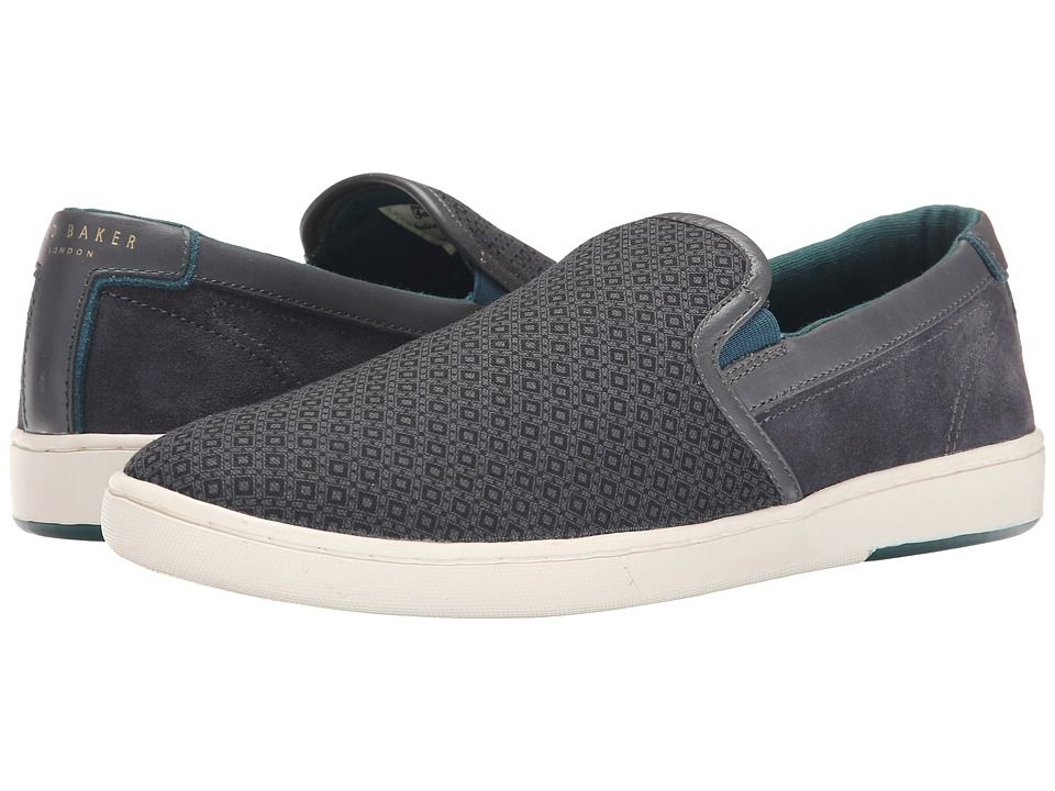 Ted Baker Mens Chaise 1q Grey/Multi Textile - Sneakers